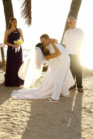 purple wedding, beach wedding, outdoors, sunset, the beachhouse restaurant, sarasota fl