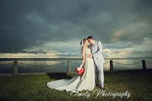 wedding, sarasota, sunset, beach, ringling, ca d'zan