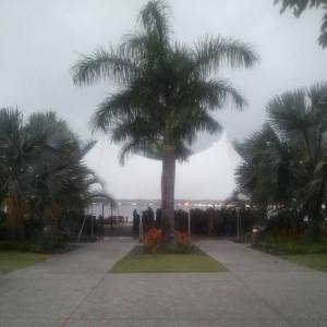 wedding, florida, tent, summer, rainy
