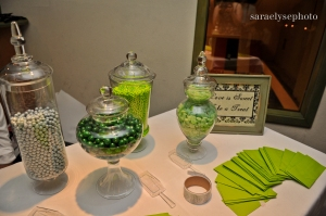 candy bar ideas, green weddings, purple and green weddings, ft myers weddings, florida weddings, florida wedding planning