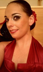 Great ballroom dance make up!