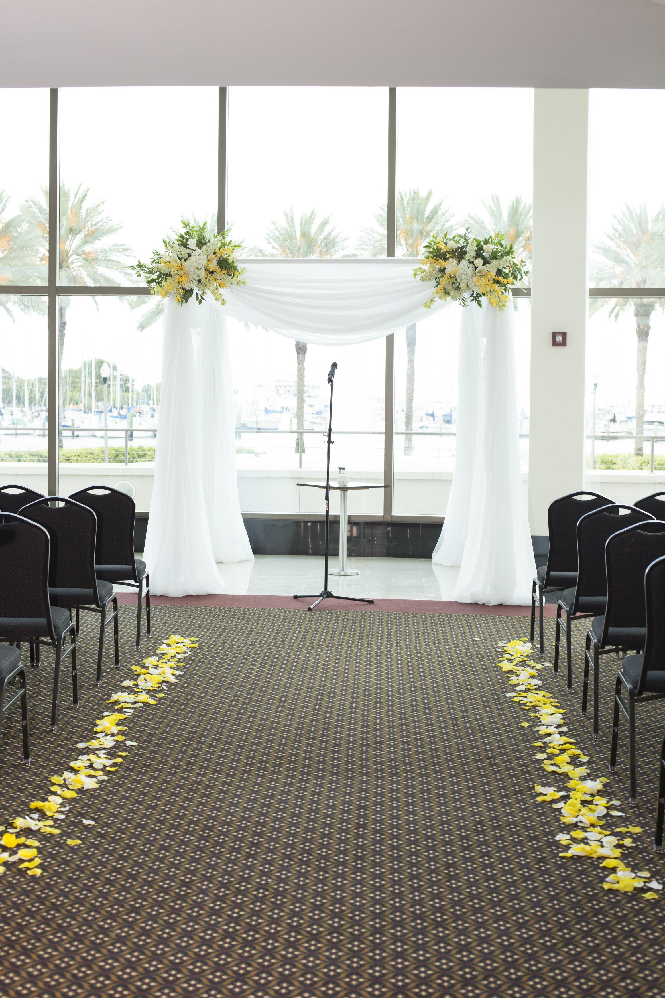 glamorous mahaffey theater wedding