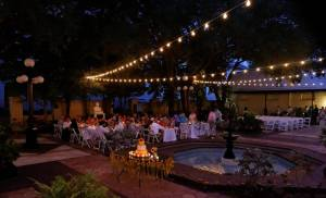 ybor city wedding, tampa weddings, ybor city museum garden, yellow weddings, spring weddings, tampa bay wedding planner, tampa wedding coordinator, day of coordinators, tampa lights, fiesta party rentals